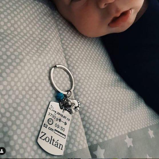 baba emlékőrző kulcstartó kisfiúnak