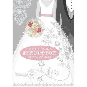 esküvős képeslap