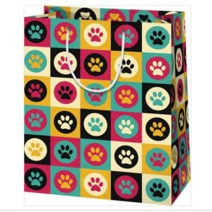 kutya tappancs ajándéktasak, ajándékcsomagolás állatimádóknak és kutyákat kedvelőknek