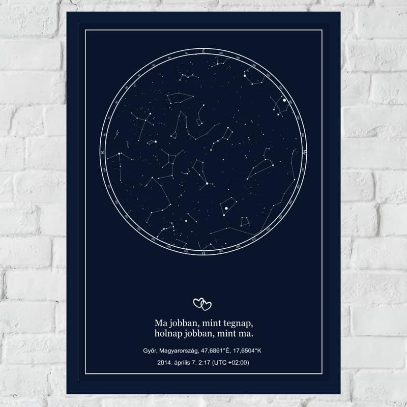 0b731427a4 Szerelmes csillagtérkép, egyedi ajándék pároknak - Mesélő Ajándékok