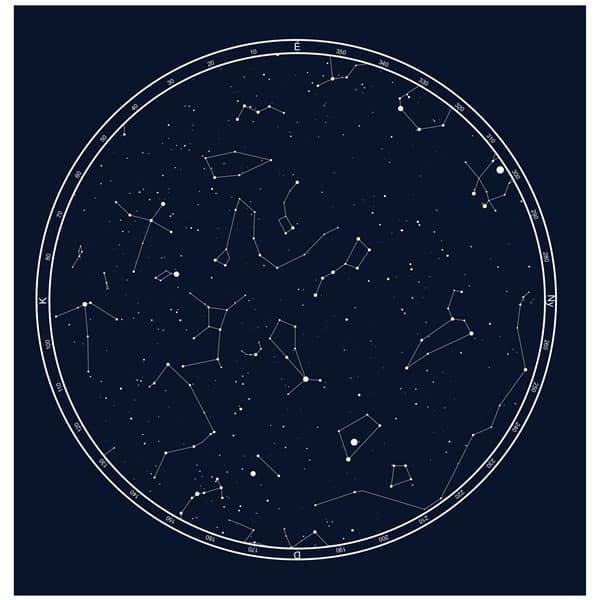 Szerelmes csillagkép valentin napra a képen egyedi csillagos égbolttal