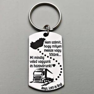 gravírozott, egyedi kulcstartó, ajándék apának, kaminos kulcstartó