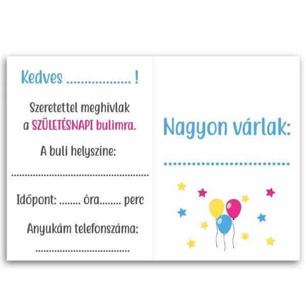 meghívó születésnapra