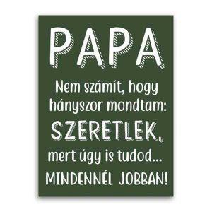 Szeretlek papa - képeslap nagypapának