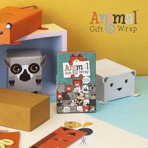 Állatos csomagolópapír, ajándék állatimádóknak