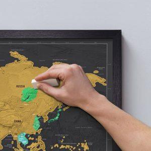 Kaparós térkép Deluxe-közepes méretű, ajándék testvéreknek