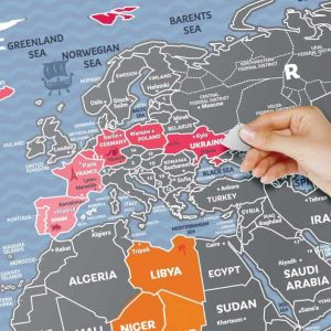 Kaparós világtérkép poszter, hétvégi verzió, vicces ajándék