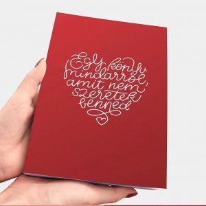 Üres könyv, romantikus ajándék pároknak