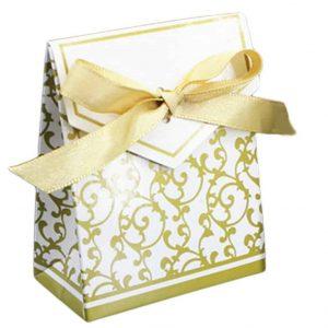 Luxus mini ajándéktasak, aranyszínű tasak karácsonyra