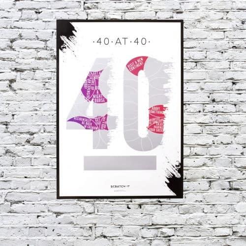 Kaparós poszter- 40 kihívás, 40 évesen