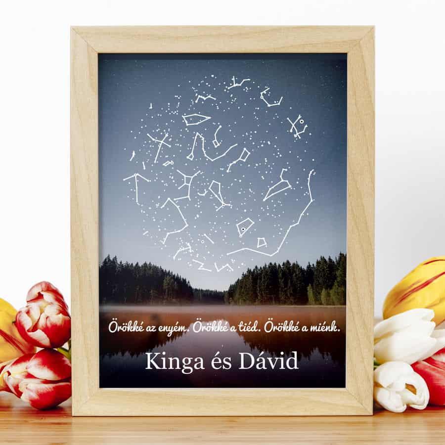 Csillag kép | örökké a miénk, romantikus ajándék, szerelmes ajándék