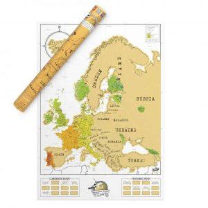 Kaparós Európa térkép karácsonyra