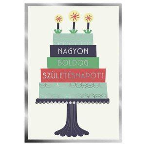 Nagyon boldog születésnapot képeslap