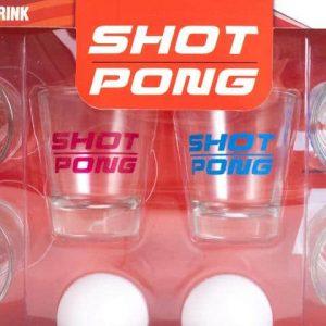Shot pong, feles poharas italozós játékszett