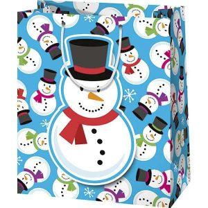 Hóember karácsonyi ajándéktasak