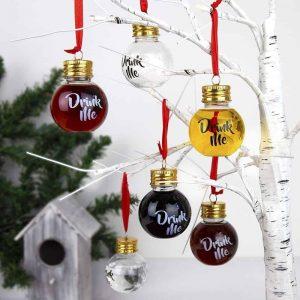 Karácsonyfadísz feles üveg szett