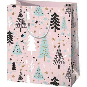 Karácsonyi lányos ajándéktasak