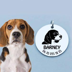 Gravírozott biléta beagle kutyának