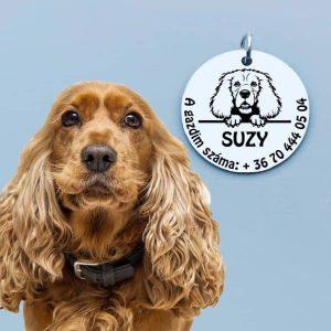 Gravírozott biléta Spániel kutyának