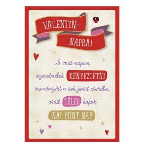 Valentin napi kuponos képeslap