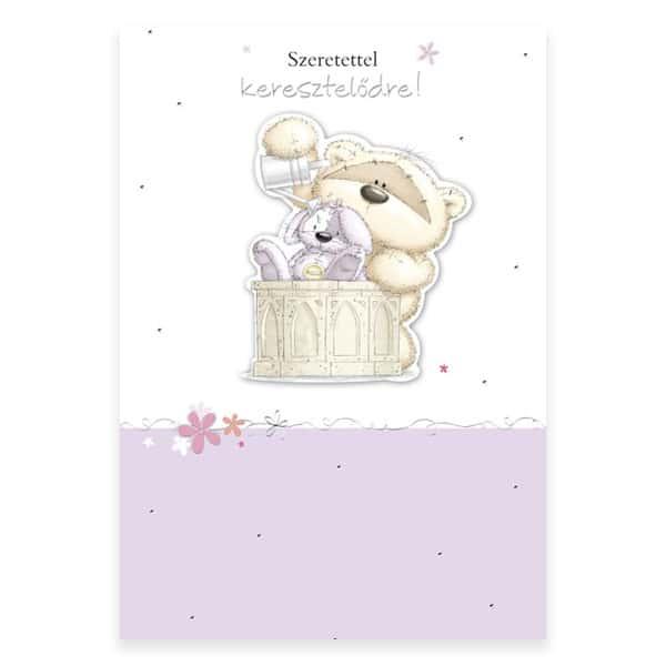 Szeretettel keresztelőre képeslap