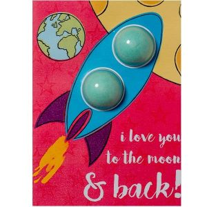 I love you to the moon & back élmény képeslap