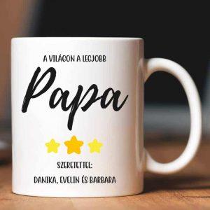 Apák napi bögre papáknak, az unokák nevében
