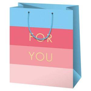 For you ajándéktasak kék-rózsaszín