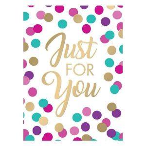 Just for you, mini ajándékkísérő kártya