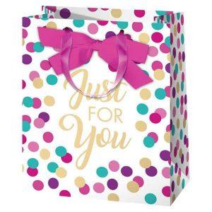 Just for you, színes és pöttyös ajándéktasak