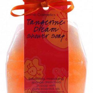 Szivacsos tusoló szappan narancs, mandarin és vérnarancs