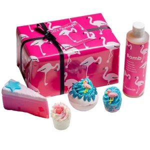 Rózsaszín flamingó ajándékcsomag