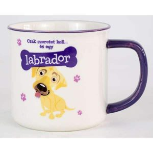 Kerámia bögre kutyás gazdiknak-Labrador