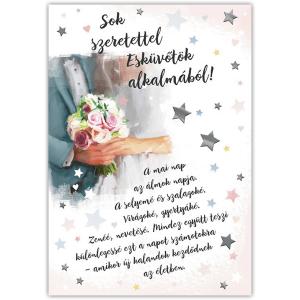 Csillagos esküvői képeslap