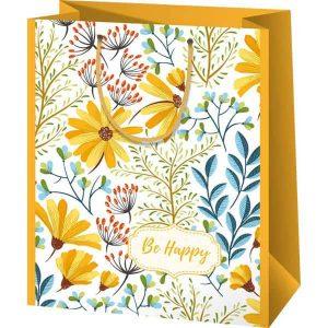 Sárga virágos tasak nőknek