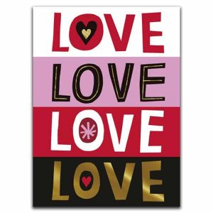 Love, love, love mini card