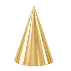 Arany színű meseszép party csákók , 6 darabos