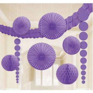 Lila színű dekorációs készlet