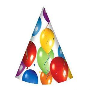 Lufis, ünnepi csákók 6 db - születésnapi bulira