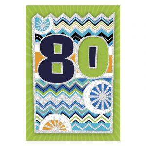 80. szülinapi képeslap