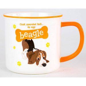 Kerámia bögre kutyás gazdinak-Beagle