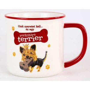 Kerámia bögre kutyás gazdinak-Yorkshire terrier