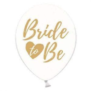 Arany Bride to be átlatszó lufi
