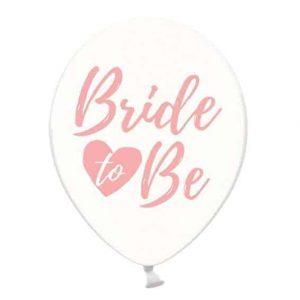 Rózsaszín Bride to be átlatszó lufi