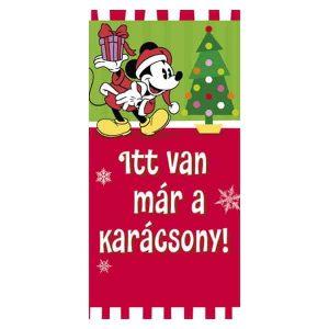 Mickey egeres karácsonyi képeslap