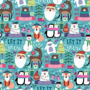 Figurás, karácsonyi csomagolópapír tekercs