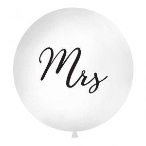 Mrs. feliratos, gömb latex Jumbo lufi 1 méteres