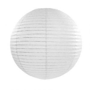 Kerek papír lampion - fehér színben