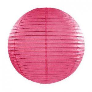 Kerek papír lampion - meleg rózsaszín színben