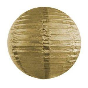 Kerek papír lampion - arany színben